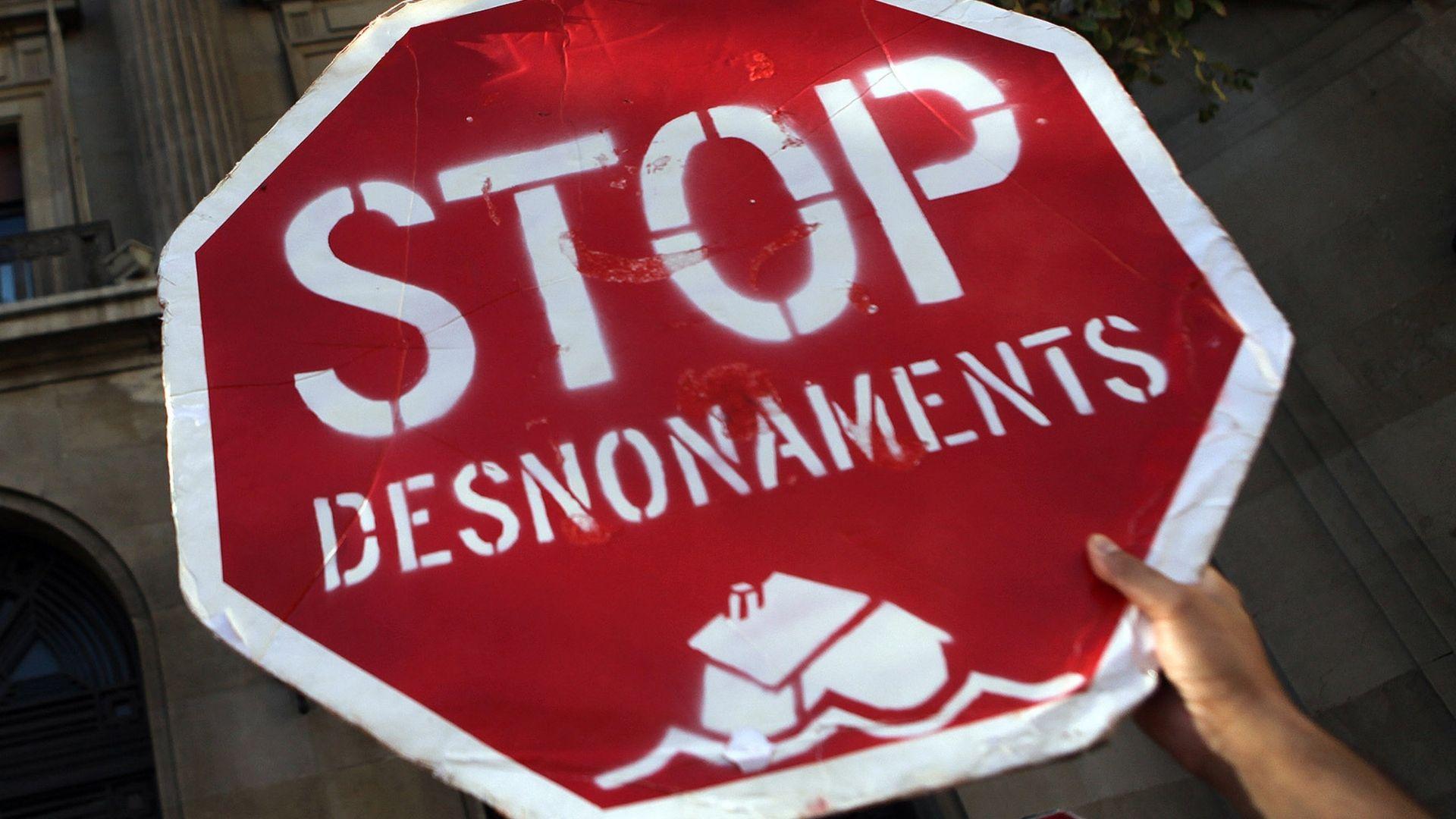 Cartell STOP desnonaments