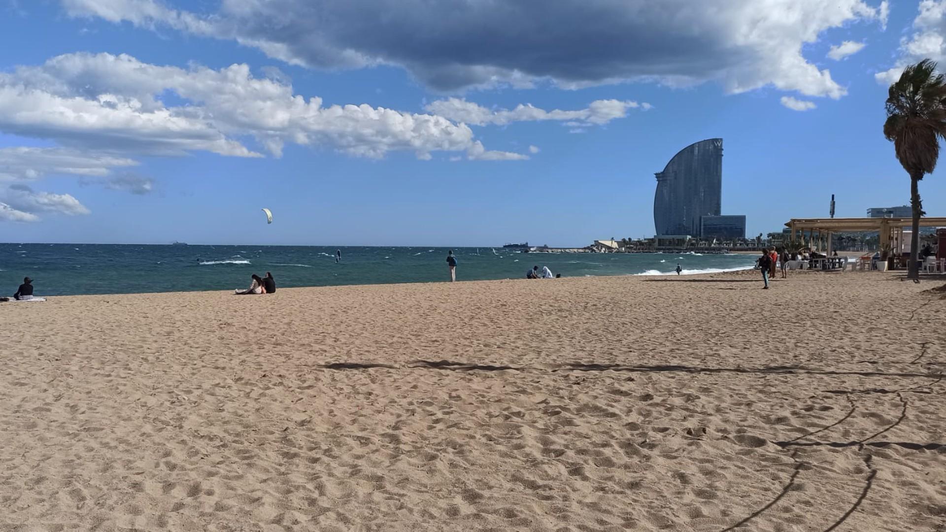 dia de vent a la platja