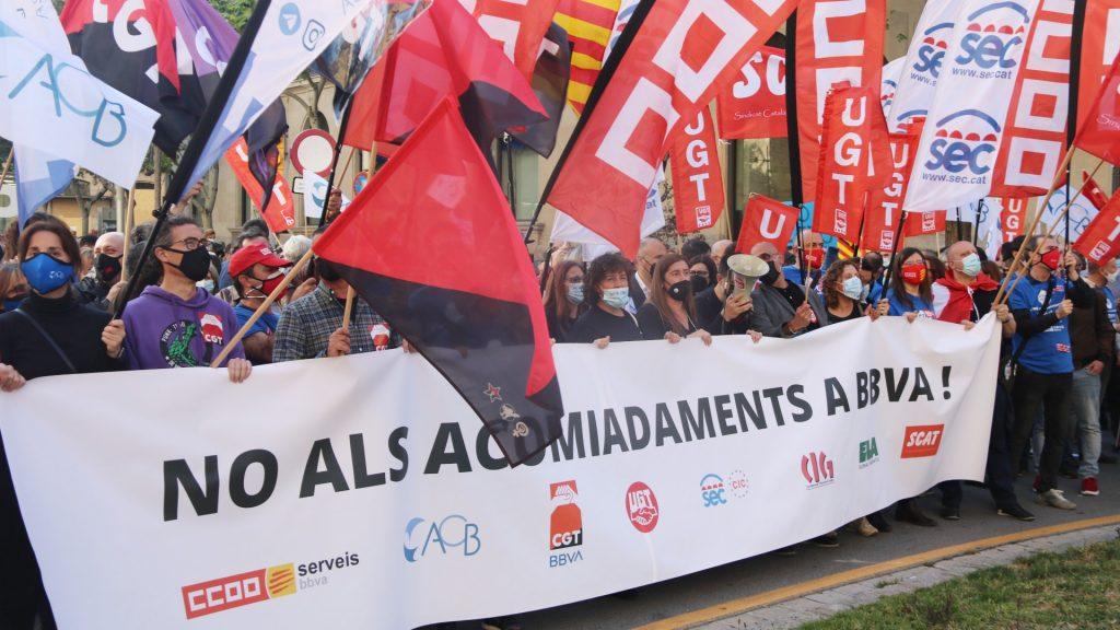 Protesta treballadors BBVA