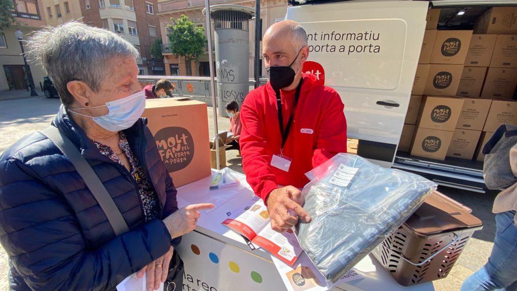 punt informatiu porta a porta Sant Andreu