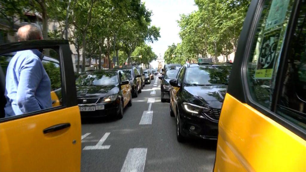 protesta taxistes Gran Via