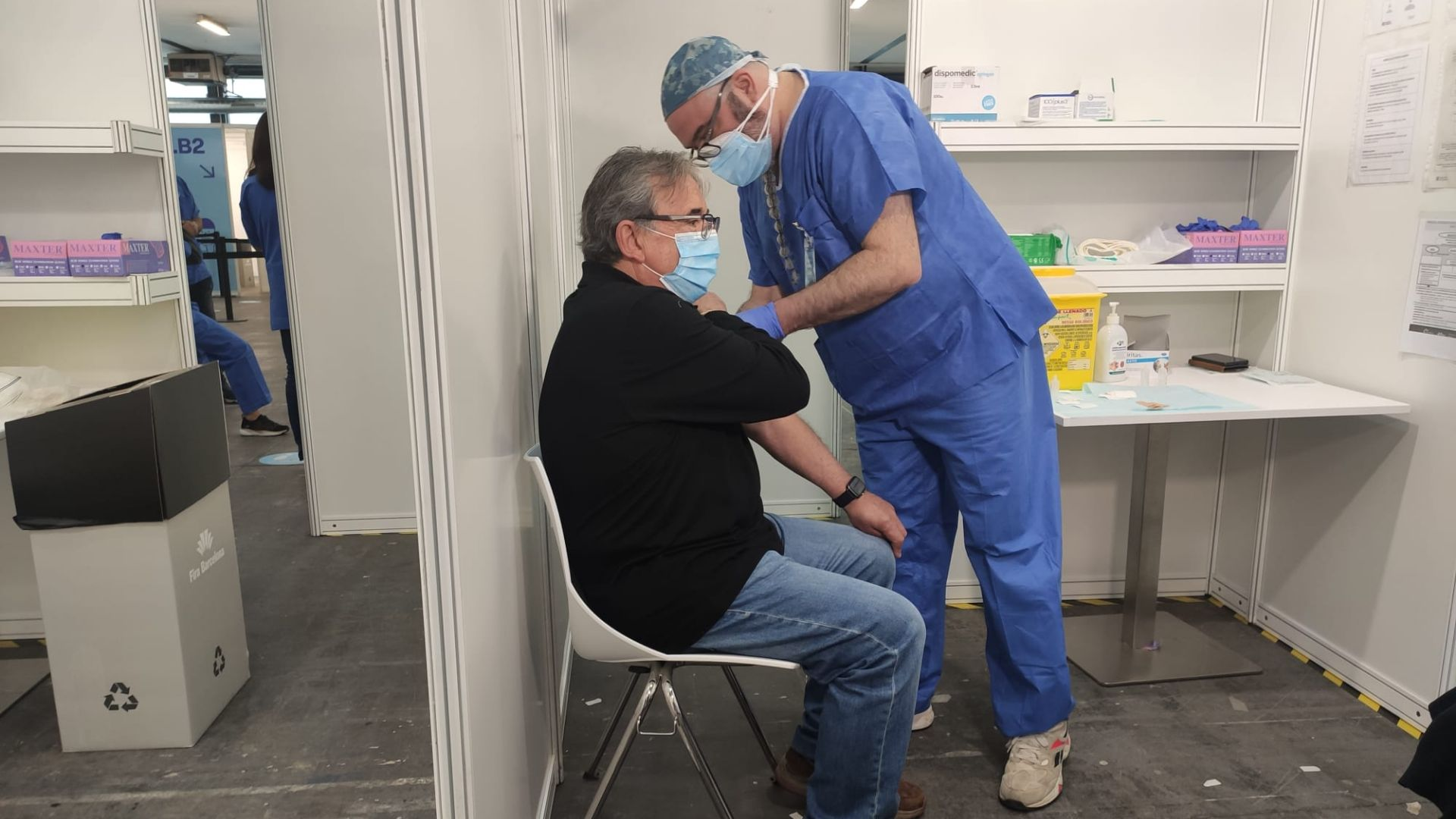 Vacunes a la Fira de Barcelona