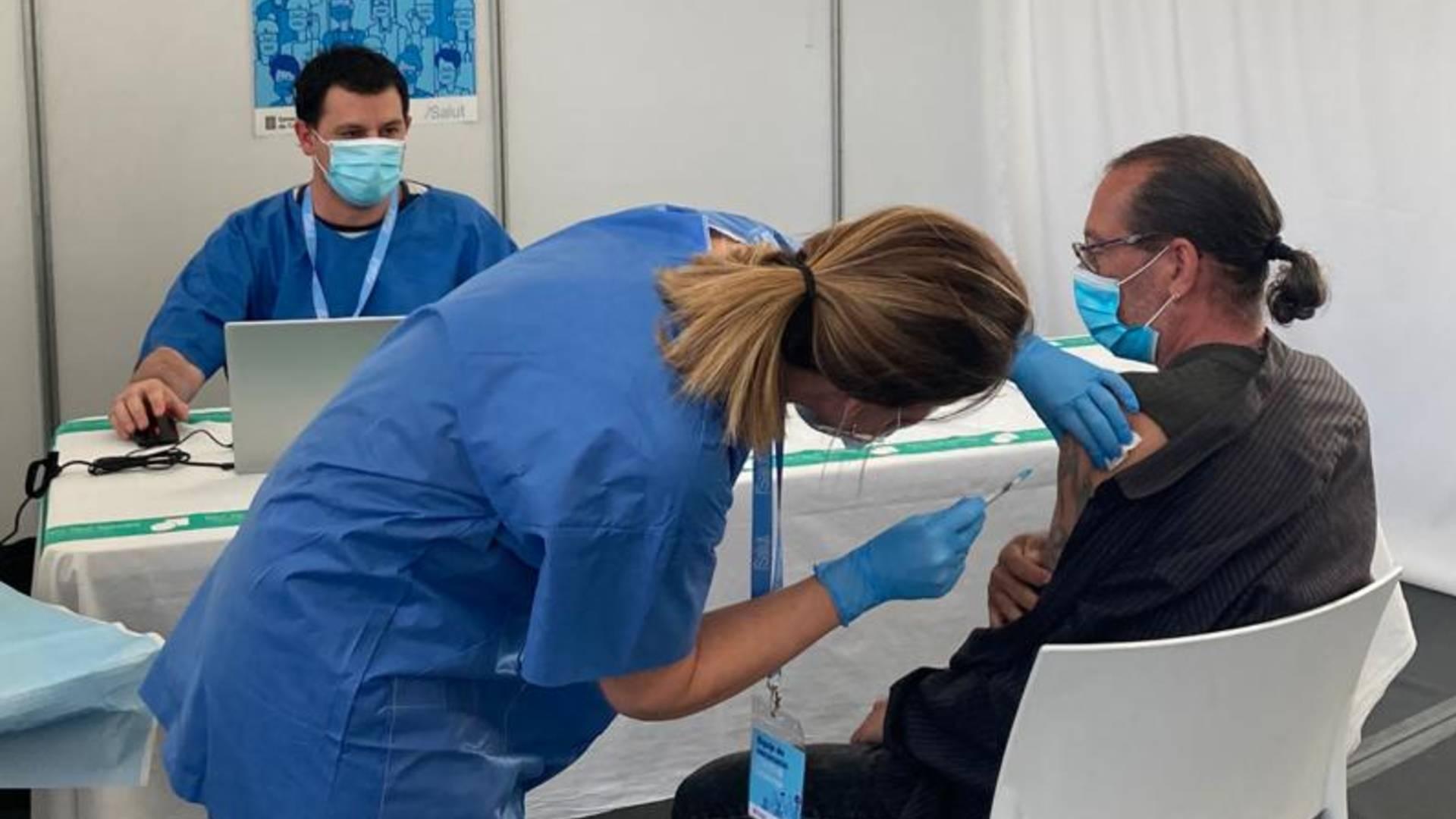 Punt vacunació massiva pista atletisme de Sabadell