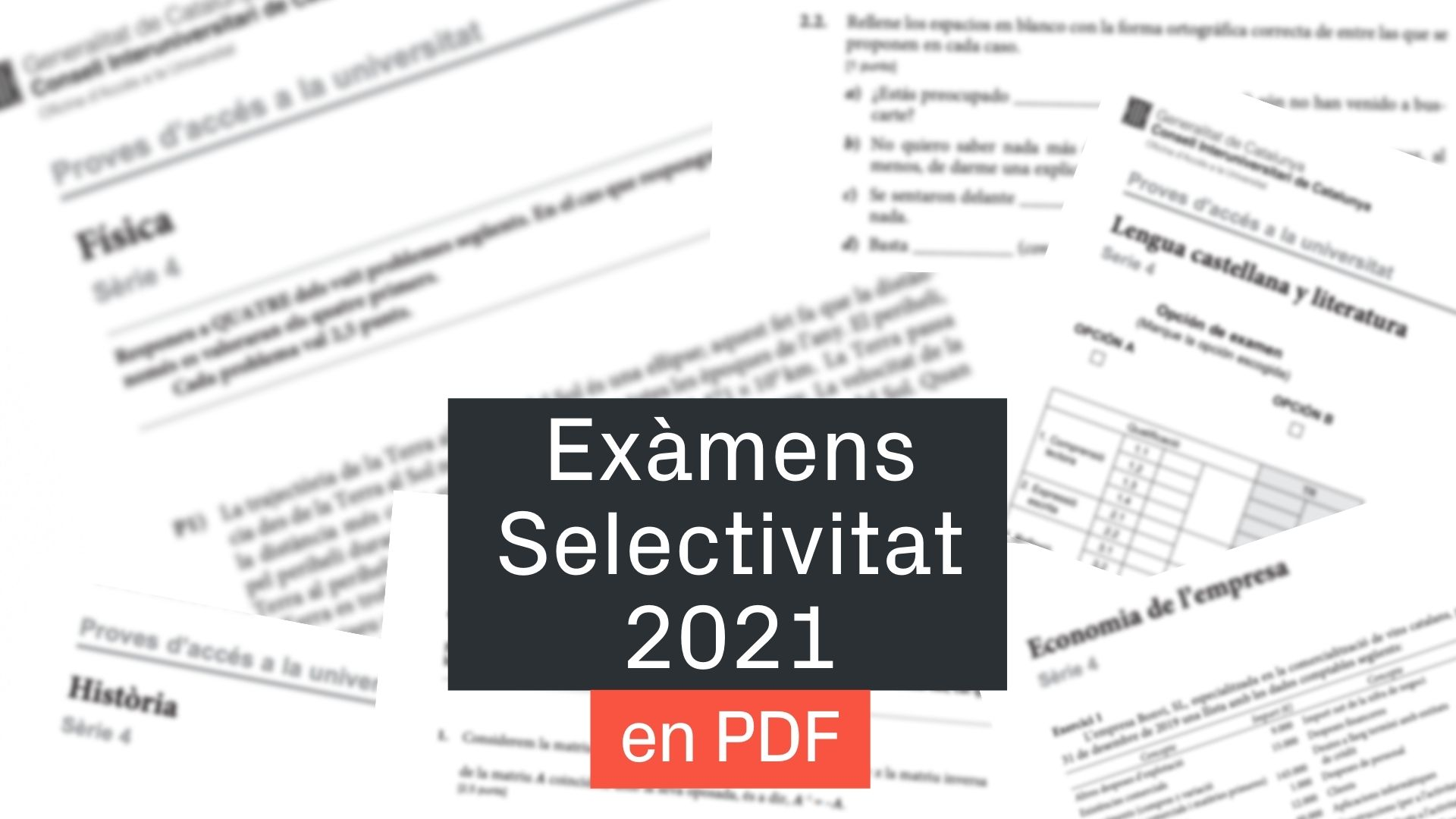 exàmens selectivitat 2021
