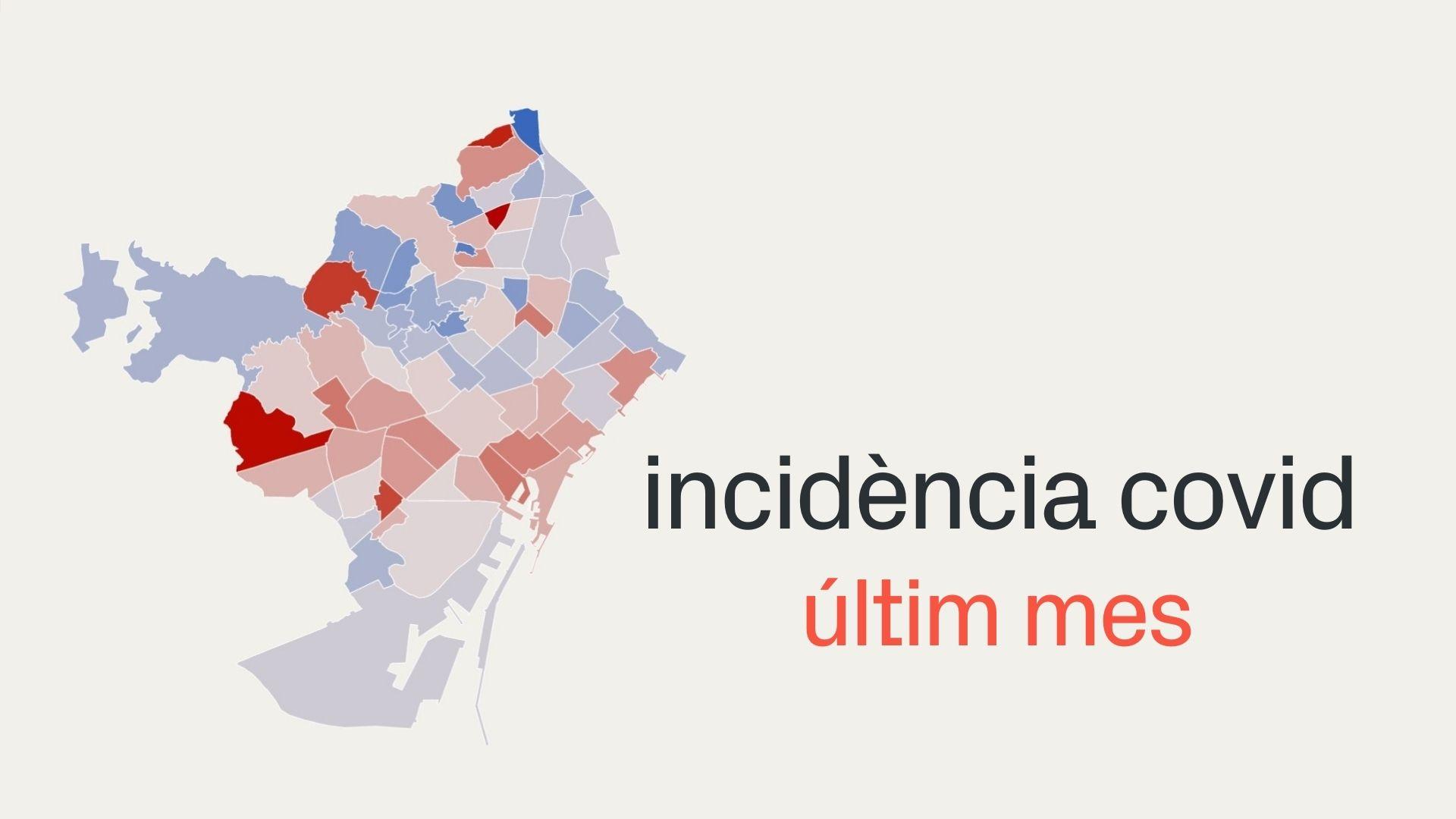 incidència covid barris barcelona mapa