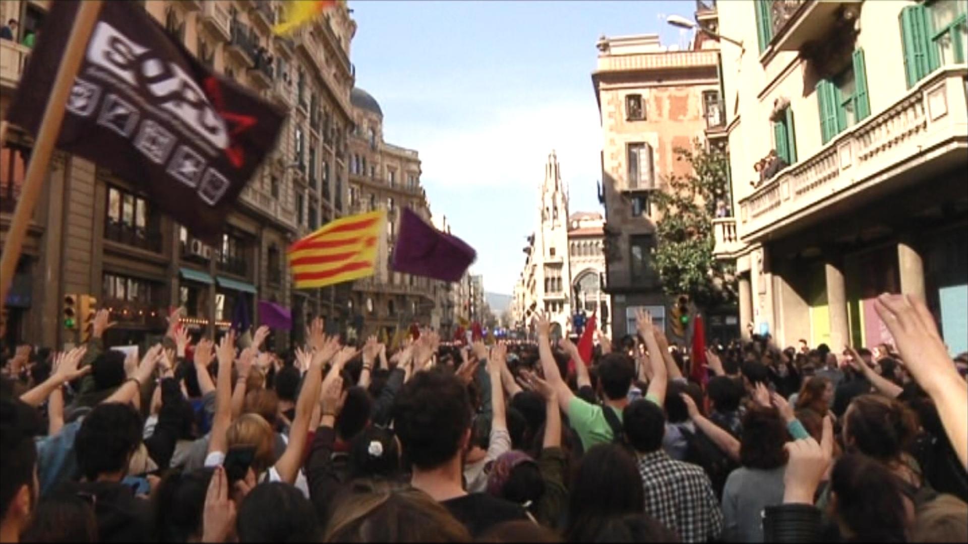 Manifestació contra les taxes universitàries del 2017