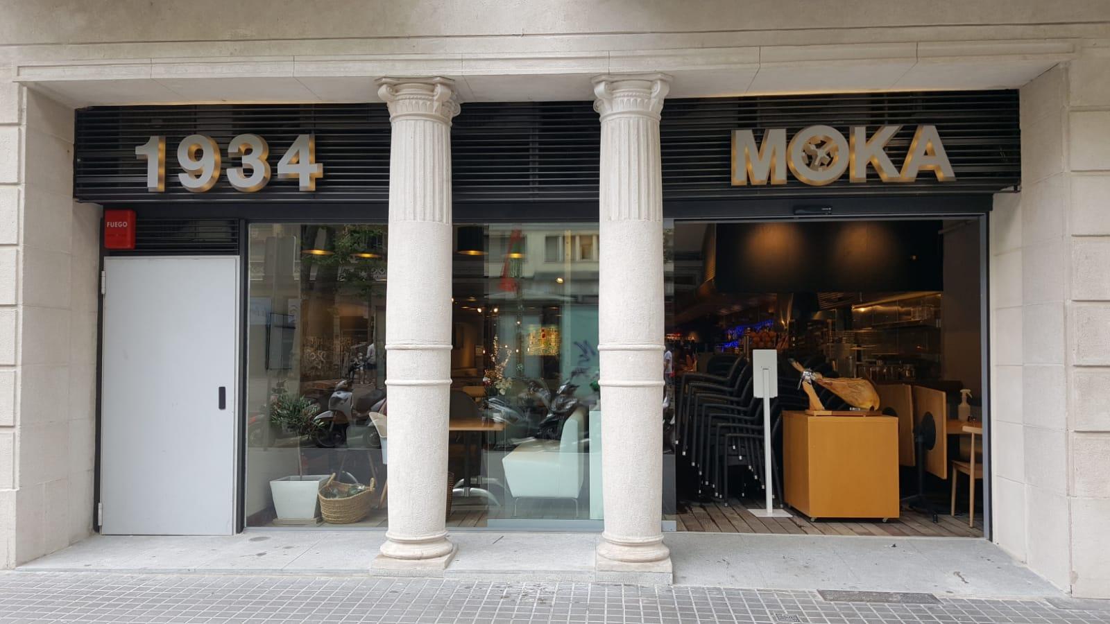 exterior del restaurant Moka a la Rambla