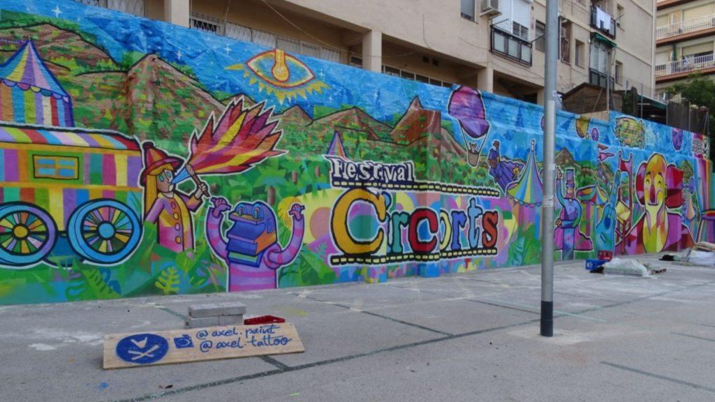 El mural de Cristina Artigas Fustel fet pel Festival Circorts