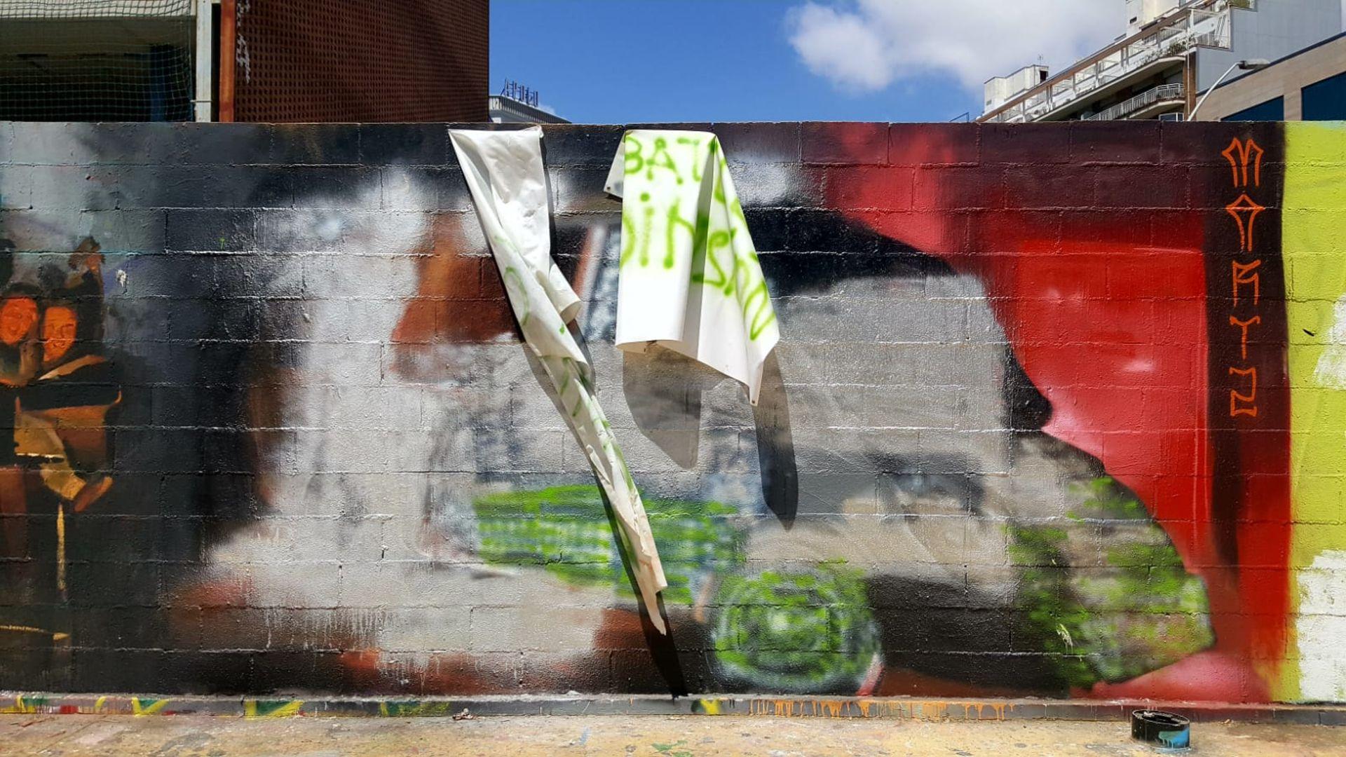 Mural esborrat Guàrdia Urbana