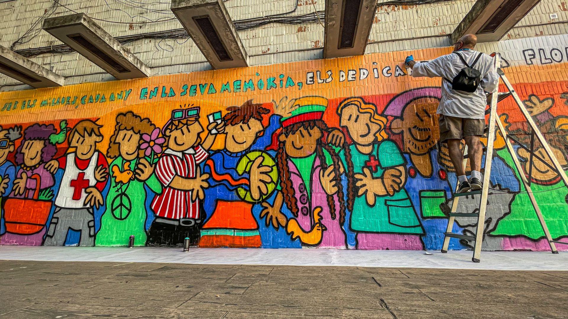 mural victimes covid festa major besos maresme