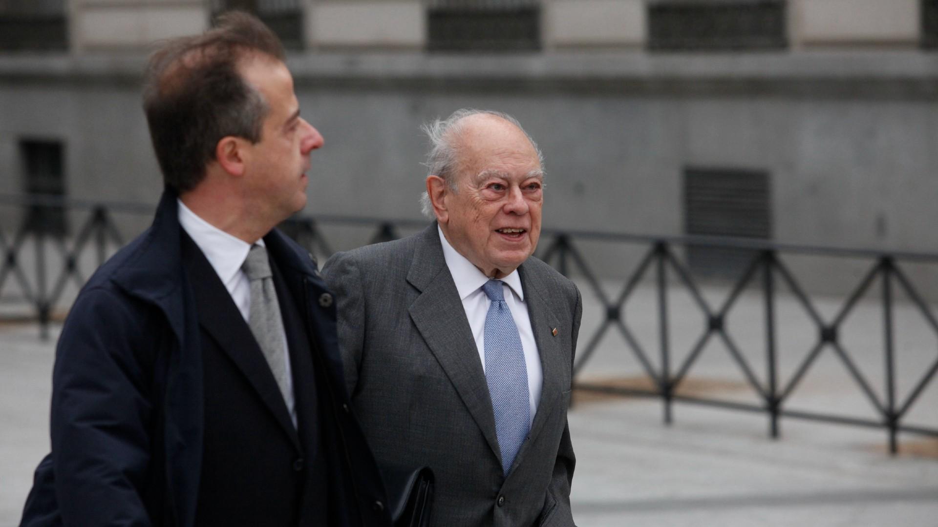L'expresident de la Generalitat, Jordi Pujol, arribant a l'Audiència Nacional el 10 de febrer del 2016