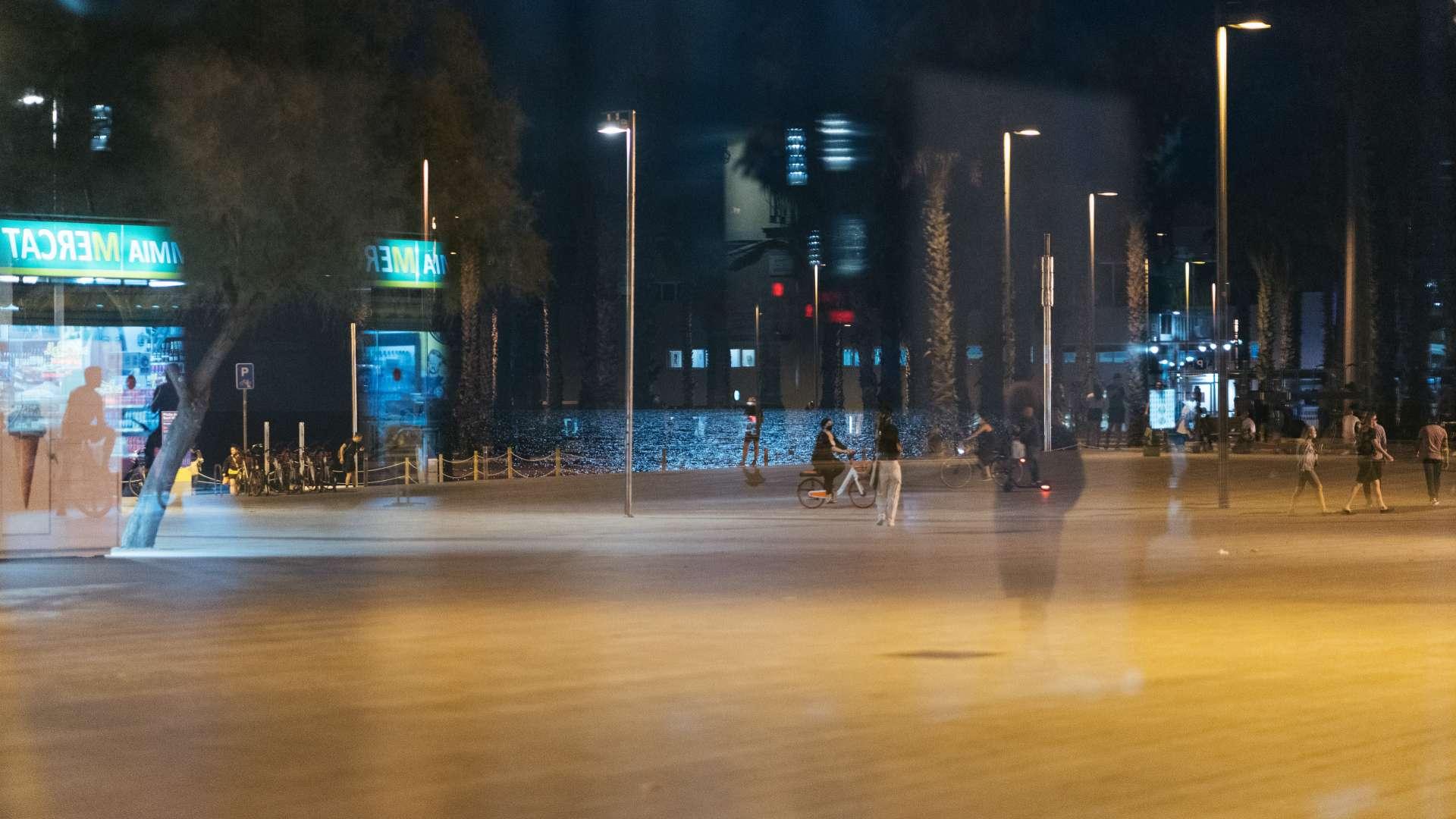 Barceloneta buida de nit