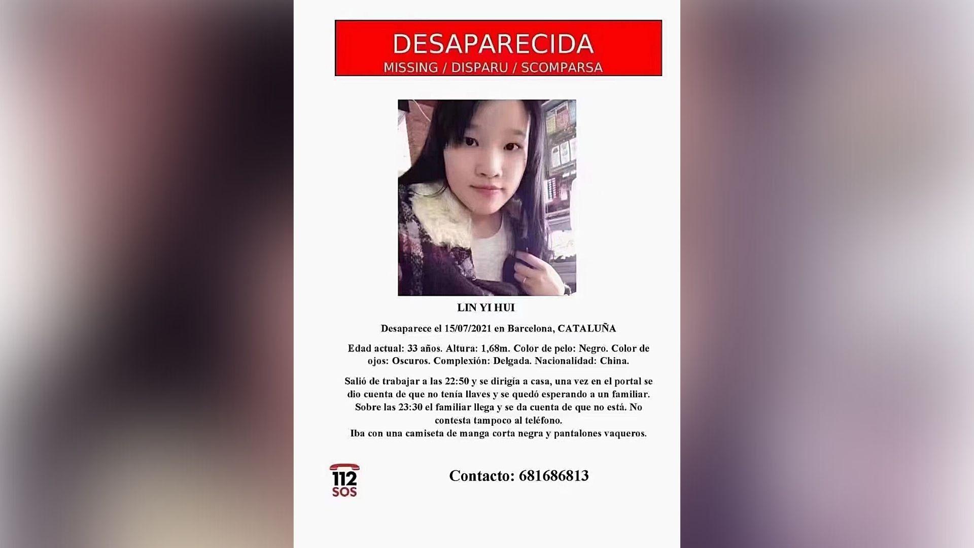 desapareguda noia xinesa barcelona