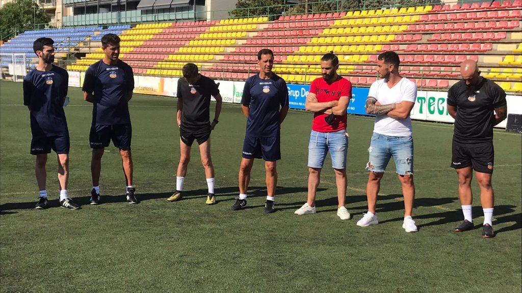 L'equip tècnic de la UE Sant Andreu