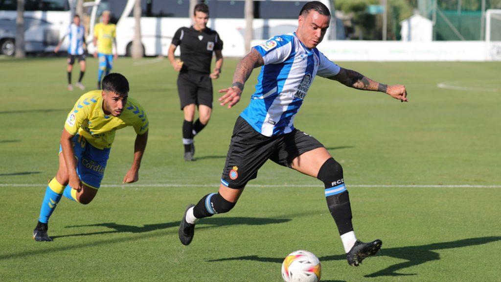 Raúl de Tomás durant el partit Espanyol - Las Palmas