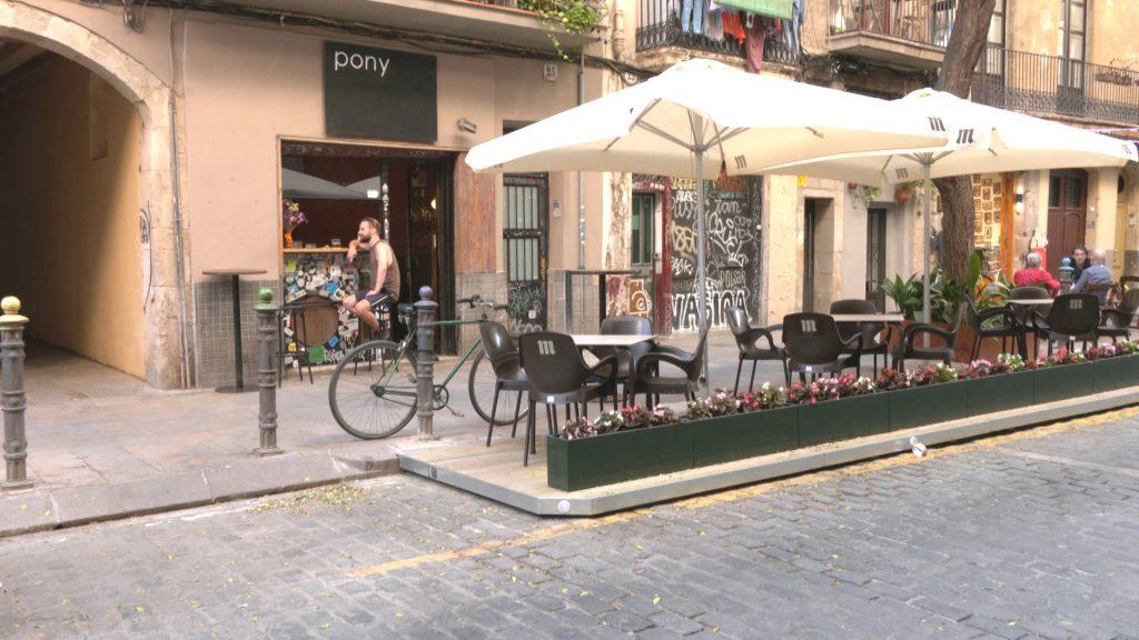 nova terrassa a un bar de Barcelona