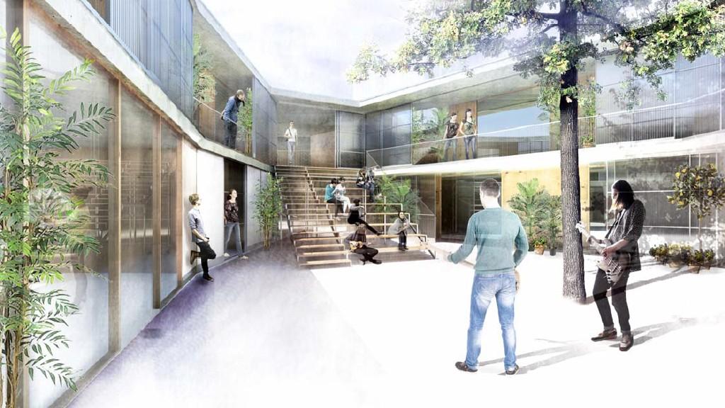 Imatge virtual del projecte de construcció del Casal de Joves de la Prosperitat