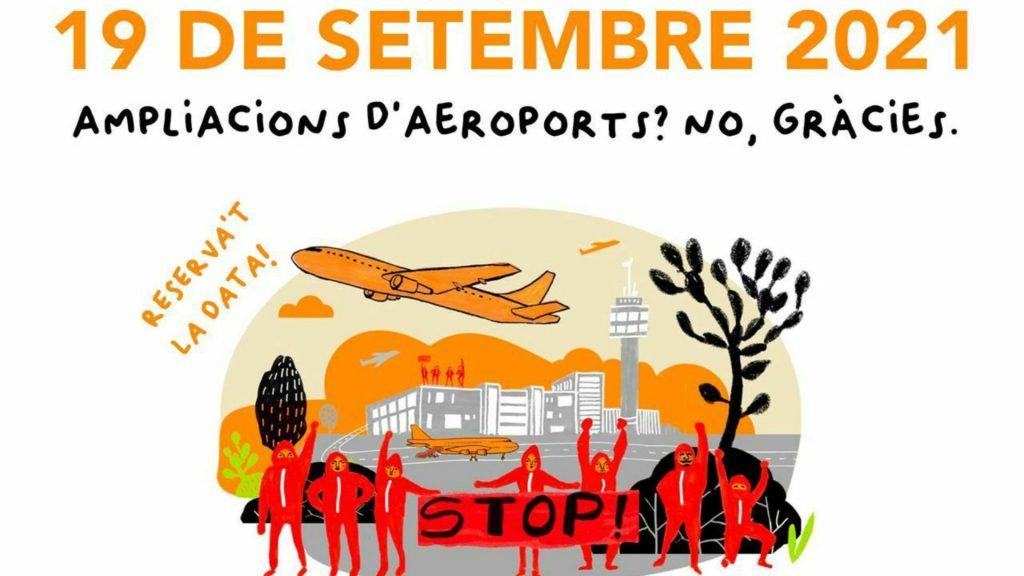 manifestació contra ampliació aeroport