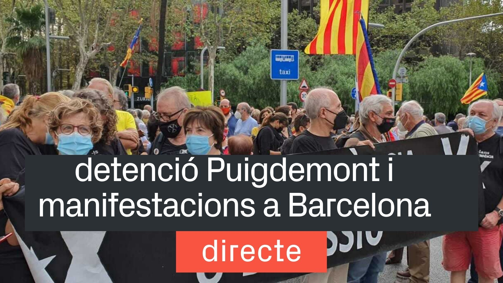 detenció Puigdemont manfiestacions Barcelona