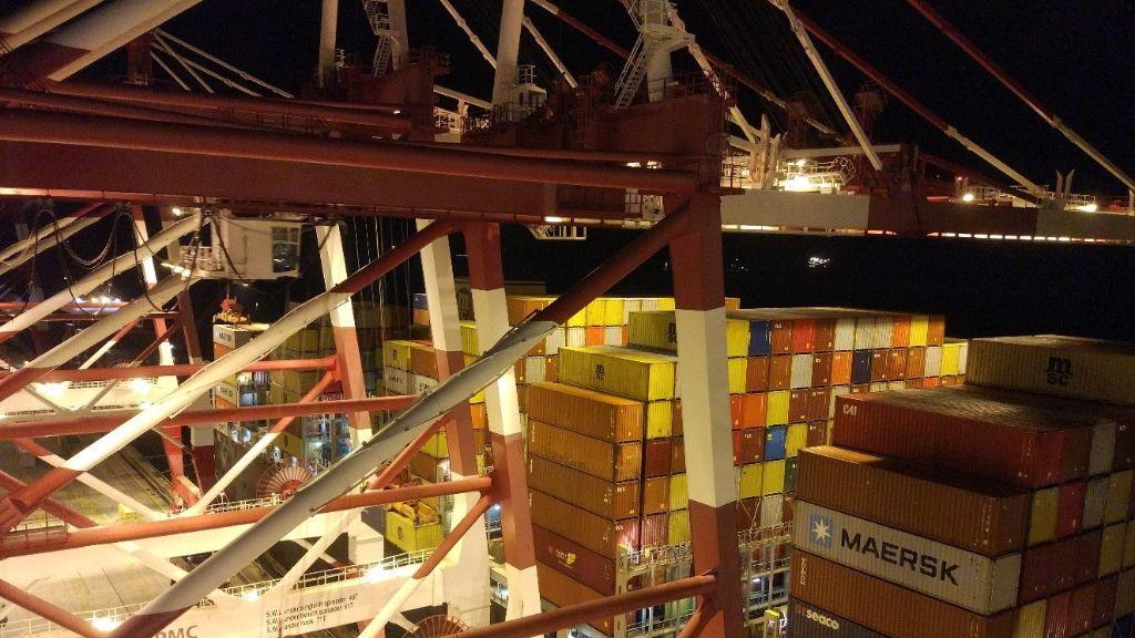 Contenidors al Port de Barcelona